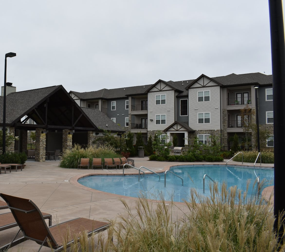Poolside Deck at Copperfield Apartments, Smyrna